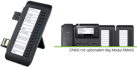 CP400 mit optionalem Key Modul KM400