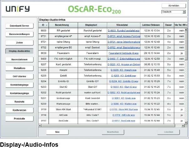 Display-/Audio-Infos