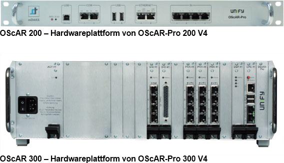 Hardwareplattform von OScAR-Pro